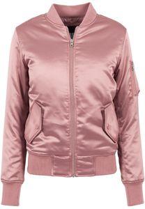 Urban Classics TB1279 Ladies Satin Bomber Jacket , Farbe:oldrose, Größen:L
