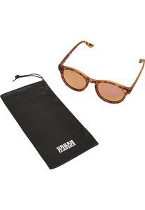 Urban Classics Sonnenbrille Sunglasses Sunrise UC Brown Leo/Rosé