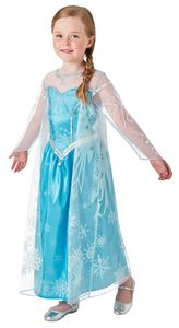 Rubies - Mädchen Elsa-Kostüm - aktualisierte Deluxe-Version - ELSA - M