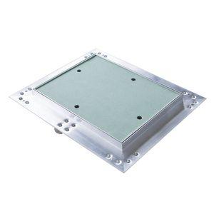 Melko Revisionsklappe mit Druckverschluss aus Gipskarton und Aluminium - Grün - 40 x 60 cm - perfekt für Heizung und Co.