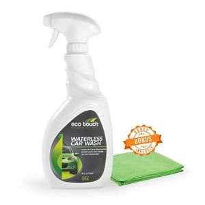 Autowäsche ohne Wasser - Waterless Car Wash - Trockenwäsche mit GRATIS Mikrofaser Tuch -Trockenreinigung - Intensiv Wasserloses Auto Waschen - Profi Spray, Lackreiniger - 500 ml Sprühflasche