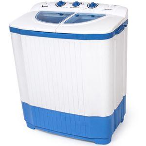 tectake Mini-Waschmaschine 4,5 kg mit Wäscheschleuder 3,5 kg - weiß