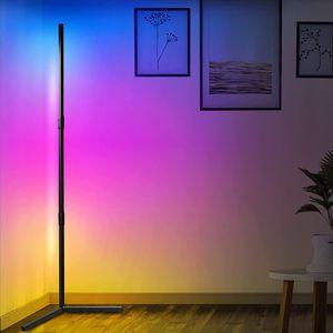 ATOKIT LED Stehlampe Dimmbar mit Fernbedienung, Eck Standleuchte Stufenlos Dimmbar Farbwechsel Lichtsaeule RGB Farbtemperaturen/ Helligkeit für Wohnzimmer Schlafzimmer