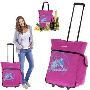 Einkaufstrolley Alessandro Trolley Einkaufsroller Trolly  Damen 35 Liter mit Flaschentasche 12316 Magenta Pink