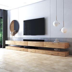 Selsey TV-Lowboard HYLIA DOUBLE in Holzoptik Wotan Eiche 2x140 cm breit
