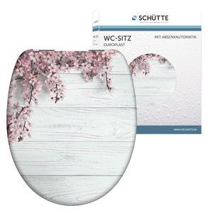SCHÜTTE WC Sitz FLOWERS & WOOD, Duroplast Toilettensitz mit Absenkautomatik,Motivdruck