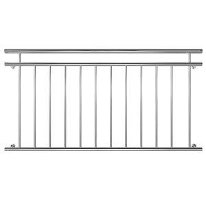 Edelstahl Französischer Balkon Geländer Balkongeländer 90 x 100-225 cm V2Aox, Breite:156 cm