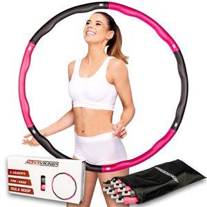 ActiveVikings Hula Hoop Reifen Ideal für Fitness,  und Massage, 6-8 Segmente Abnehmbar - für Erwachsene & Kinder