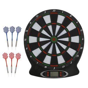 Dartscheibe Elektronische 6x Dartpfeile Steeldarts Dartboard Dart Set Wurfspiel