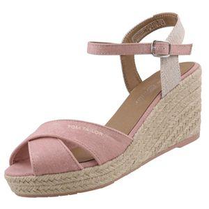 TOM TAILOR Damen Keil-Sandaletten Rosa, Schuhgröße:EUR 38