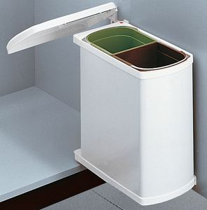 Hailo Mülleimer Küche, Einbau ab 45 cm Schrank, 2-fach Mülltrennung