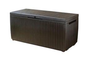 KETER-Wood Style Box Springwood 305 Liter-Auflagen- und Universalbox in Holzoptik-espressobraun-6048EC