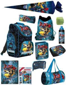 Transformers PL Schulranzen Set 16tlg. blau mit Schultüte 70cm