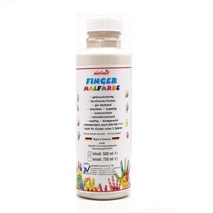 play malmit® Fingerfarben Fingermalfarben Fensterfarben Malfarben Kinderfarben Weiß 500ml