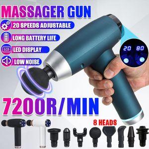 20 Modi Electric Massage Gun Massagepistole Massager Muscle Massagegerät+8 Köpfe