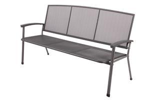 TPFGarden® Gartenbank ROMA 3-Sitzer + aus Streckmetall + wetterfest✔   Gartenbank von hoher Qualität ✔   Farbe: eisengrau beschichtet✔