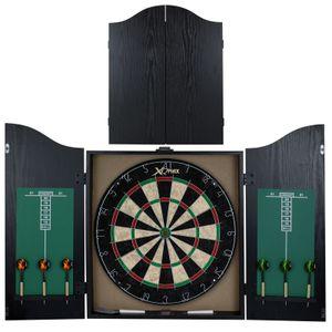 Dartschrank Dartscheibe mit Kabinett Steeldart Dartboard Dart Set Schwarz