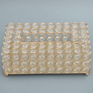 Elegante Kristall Golden Kosmetikbox Kosmetiktuch Taschentuchbox Kosmetik Tücherbox Box