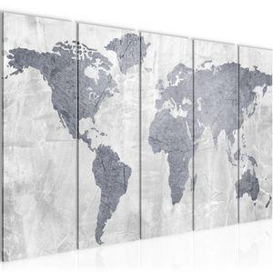 Weltkarte World map BILD 200x80 cm − FOTOGRAFIE AUF VLIES LEINWANDBILD XXL DEKORATION WANDBILDER MODERN KUNSTDRUCK MEHRTEILIG 104355c