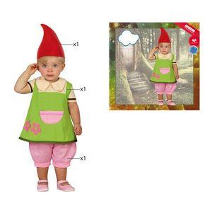 Verkleidung für Babys 112889 Zwerg Grün (3 Pcs) 24 Monate