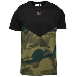 Adidas Originals T-Shirt Herren CAMO BLOCK T FM3356 Schwarz, Größe:S