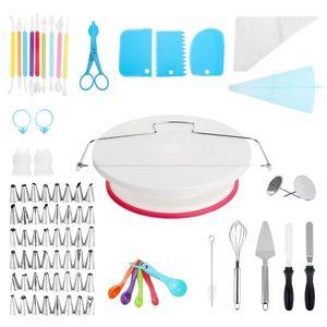 130Stk DIY Torten Kuchen Dekoration Werkzeugsatz Set Tortenplatte Drehbar DE