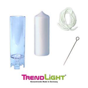 TrendLight - Kerzengießform Stumpenkerze 40x123 mm inklusive Docht 1m plus Dochthalter + Anleitung