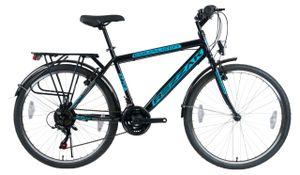 "26""ZOLL Fahrrad  Herren  JUNGEN FAHRRAD 21G SHIMANO SCHWARZ BLAU RH 47cm NEU-046"
