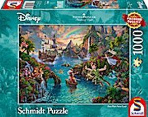 Schmidt Spiele 59635 Thomas Kinkade Peter Pans Never Land 1000 Teile P