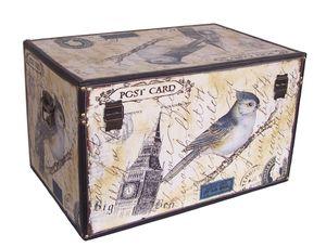 410 Holz Box Leinenoptik Big Ben Schatzkiste Holzkiste Holzbox 68x44x41cm