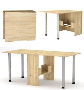Klappbarer Tisch- Esstisch 174 x 80 x75 cm - Klapptisch - Funktionstisch - Bürotisch - platzsparend-Holzoptik-Sonoma Eiche-374-3