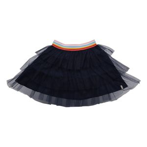 Esprit Woven Skirt W Striped Elastic Navy Blue 128 cm