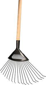 KOTARBAU® Laubrechen aus Stahldraht zum Fegen von Laub Gras mit Holzstiel 150cm