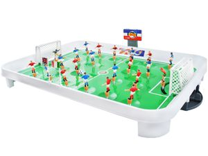 Tischfußball Mini-Fußballtisch Größe L Kunststoff Kicker Spiel 22 Spieler 24 Flaggen Spaß Unterhaltung 1499
