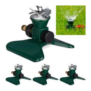 relaxdays 4 x Rasensprenger Garten, Gartensprenger Boden, Sprenkler, Sprinkler Bewässerung