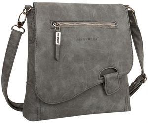 Bag Street Damentasche Umhängetasche Handtasche Schultertasche T0104 Grau