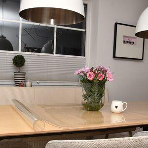 Bonilo Glasklar Tischfolie Schutzfolie Transparent | Tischdecke Tischschutz 2mm Breite: 70 cm, Tischfolie:90cm