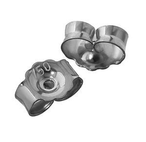 1Paar 750 Weißgold Gegenstecker Ohrstecker Ohrstopper Loch 0,8mm Ohrmutter 4825