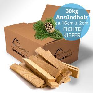 30 Kg Anzündholz TROCKEN Anmachholz Anfeuerholz Brennholz Kaminholz Anzünder