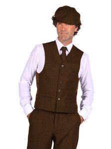 20er Jahre Peaky Blinders Anzug Knickerbocker Herren Kostüm BRAUN, Größe:56