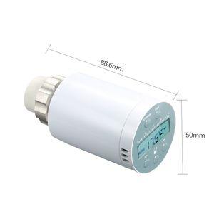 SEA801-APP Thermostat-Temperaturregler Heizung und genaues TRV-Thermostat-Heizkoerperventil Programmierbare Sprachfernbedienung Thermostat-Heizungsregler