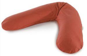 Das Original Theraline Stillkissen 190 cm inkl. Bezug Jersey rotbraun