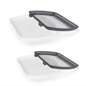 Frischhaltedosen Frischhalteplatten ideal für verpackungsfreien Einkauf Set 4tlg