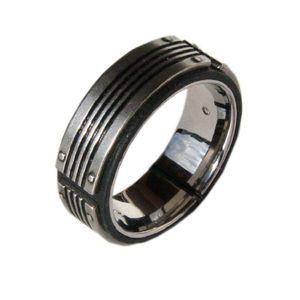 Fossil Herren Edelstahl Ring JF83553, Ringgröße:57 (18.1 mm Ø)
