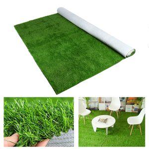 VONDA (2*3m) Kunstrasen Teppich Rasenteppich Fertigrasen, ideal als Teppich für Outdoor, Garten, Spielen, gummierte Unterseite mit Drainagelöchern