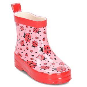 Playshoes Gummistiefel Allover-Marienkäfer, Farbe: rosa, Größe: 26