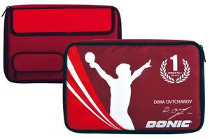 Donic-Schildkröt Tischtennis Schlägerhülle Ovtcharov Plus, Schlägerhülle für bis zu zwei Schläger, extra Ballfach