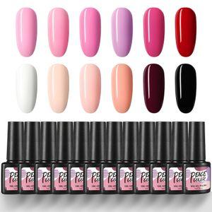 12PC UV Nagellack Starterset uv Nagelset Gel Farben für Nägel Nagellack Set 7ML Fingernägel uv Soak Off Langanhaltender Maniküre-Lack  Kits