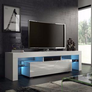 TV-Schrank mit LED 130x 35 x 45cm | Nordisches Modedesign Home Wohnzimmer TV-Schrank mittlere Medienkonsole