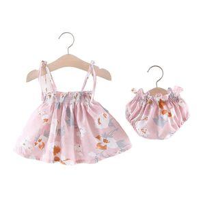 2020 Baby New Summer Koreanische Prinzessin Kleid Baby Rock Maedchen Kleid Set Eine Generation Pink100cm